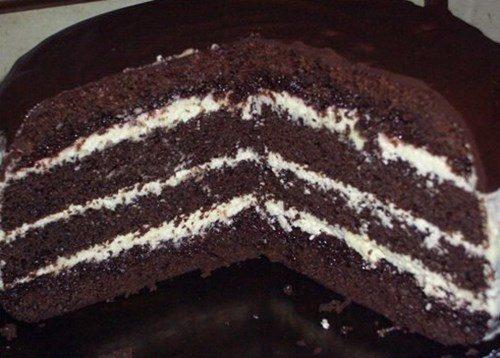 рецепт шоколадного бисквитного торта с фото