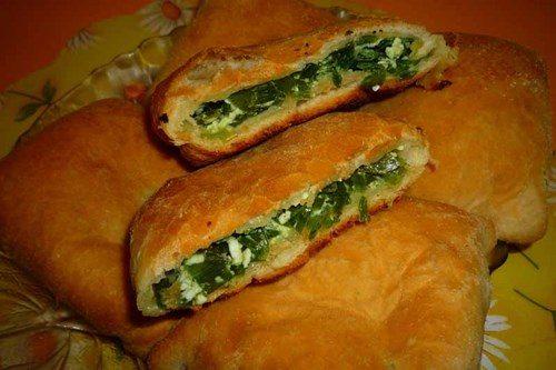 Бездрожжевые пирожки с яйцом и луком в духовке пошаговый рецепт с