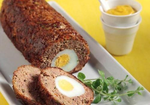 Мясной рулет с яйцом пошаговый рецепт с фото