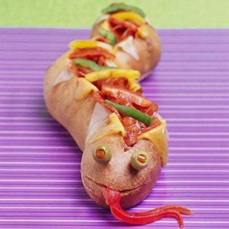 Бутерброд «Змейка» фото