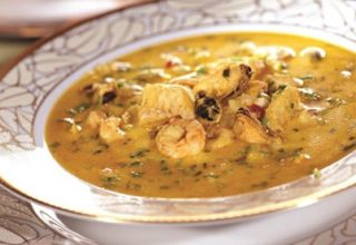 Китайский суп из морепродуктов