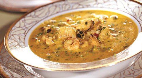 Китайский суп из морепродуктов фото