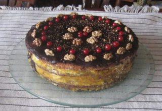 Маково-ореховый торт
