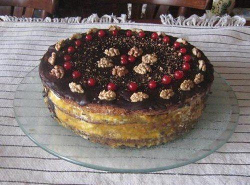 Маково-ореховый торт фото