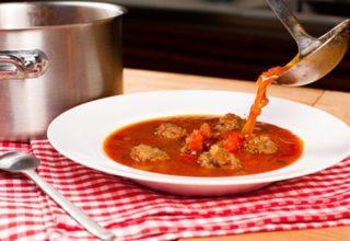 Мексиканский суп с мясными шариками