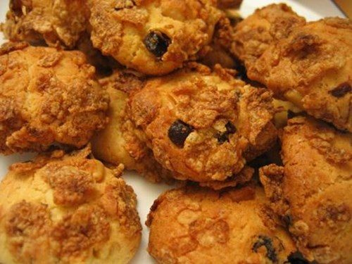 Печенье из кукурузных хлопьев фото