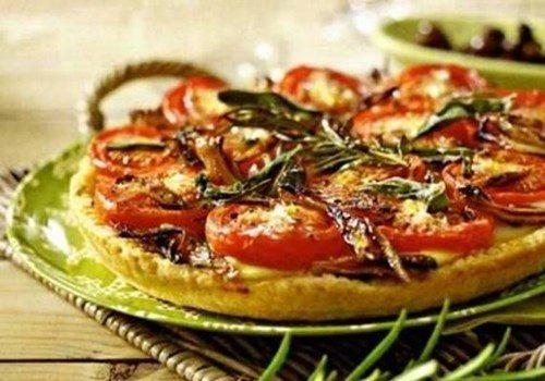 Пирог с помидорами фото