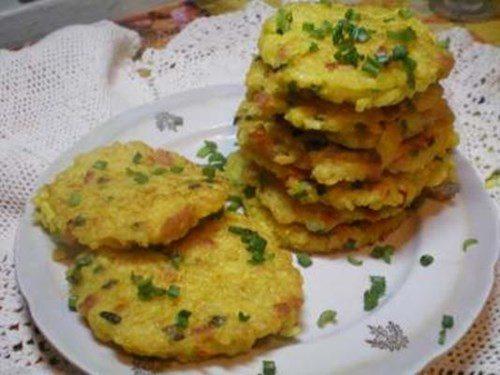 Рисовые оладьи с креветками фото