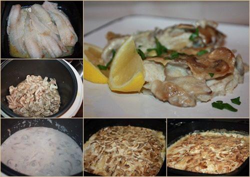 Рыба под грибным соусом фото