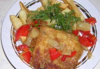 Рыбное филе со сладким перцем
