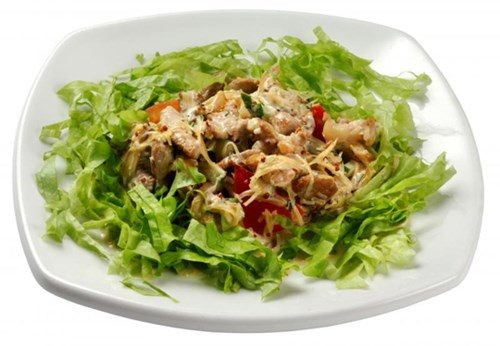 Салат из маринованной свинины фото