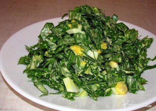 Салат с черемшой фото