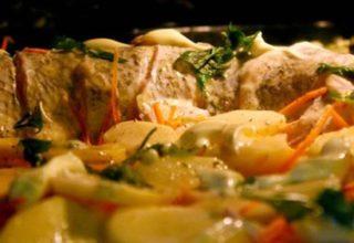 Щука с картошкой в духовке