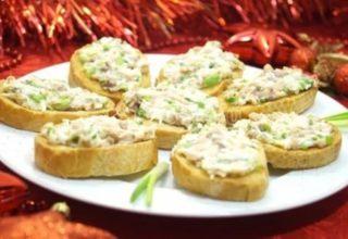 Бутерброды с тресковой печени