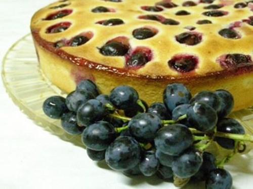 Виноградный пирог фото