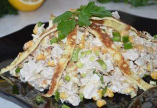 Новый – салат с курицей