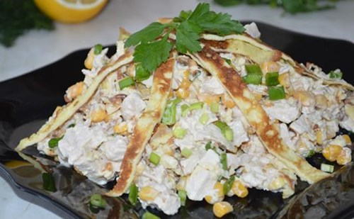 Новый – салат с курицей фото