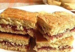 Ореховое печенье с малиновой начинкой