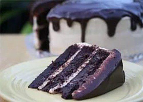 Особый шоколадный торт фото