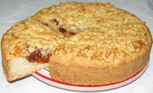 Пирог с абрикосовым повидлом фото