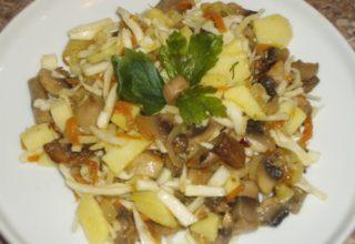 Салат из картофеля с грибами