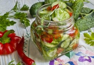 Салат с огурцов на зиму