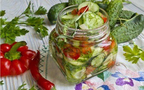 Салат с огурцов на зиму фото