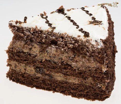 Торт из бисквита и ядрами грецкого фото