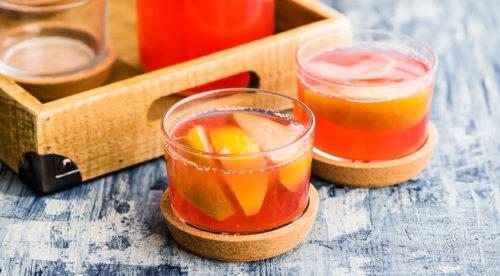 Яблоки в арбузно-дынном соке фото
