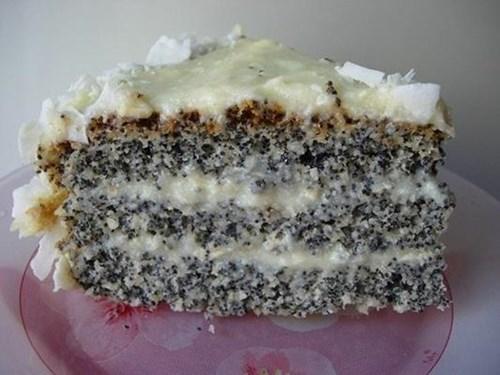 Маково-кокосовый торт фото