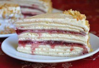 Сливочно- творожный блинный торт