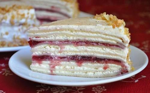 Сливочно- творожный блинный торт фото