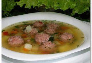 Суп с «мясными фрикадельками»