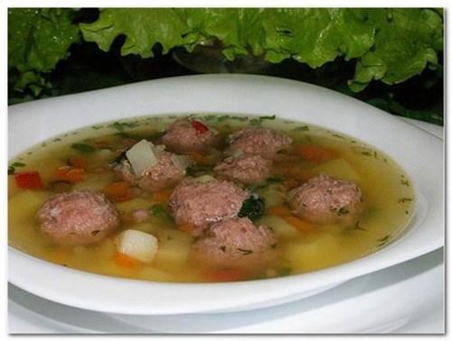 Суп с «мясными фрикадельками» фото