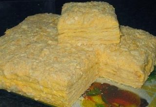 Торт «Наполеон» на сметане