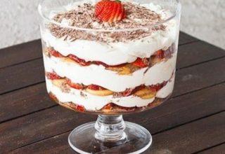 Торт в стакане «за 5 минут»