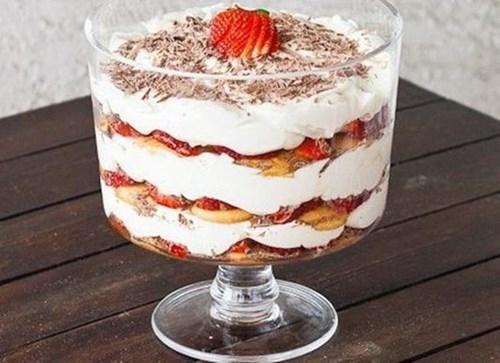 Торт в стакане фото