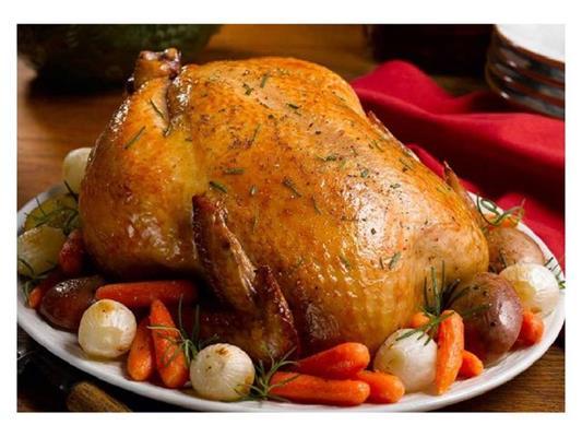 Фаршированная курица «Запеченная в рукаве» фото