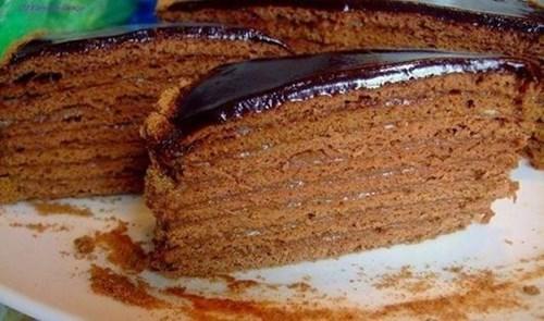 Шоколадный медовик «Дамский каприз» фото