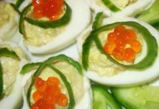 Яйца фаршированные «Карамболь»