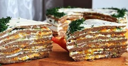 Печеночный торт «Освежающий» фото