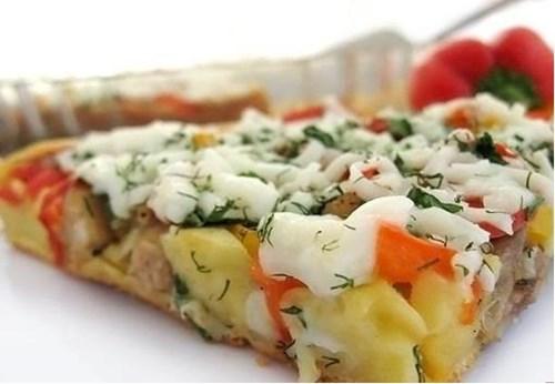 Пирог «с курицей и болгарским перцем» фото