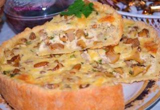 Пирог с «Лисичками»