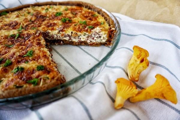 Пирог с «Лисичками» фото