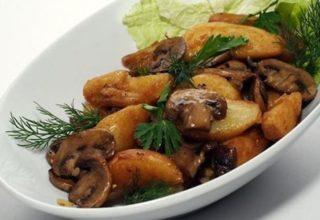 Картофель с «Шампиньонами в духовке»