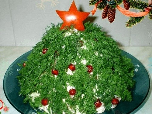 Салат в виде елки фото