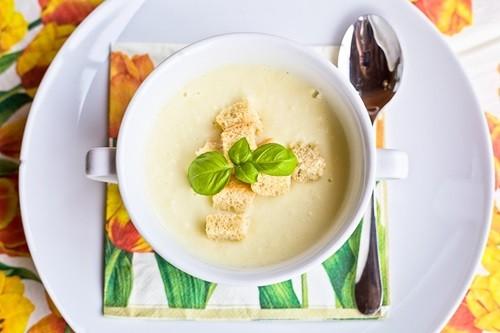 Крем суп из цветной капусты фото