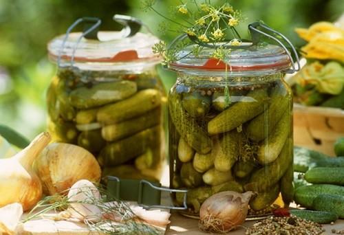 Маринованные овощи огурчики с перцем фото