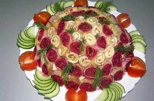 Салат «Весенний букет» фото