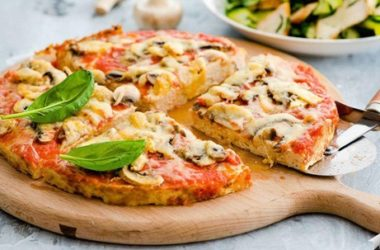 Диетическая пицца с мясной начинкой фото